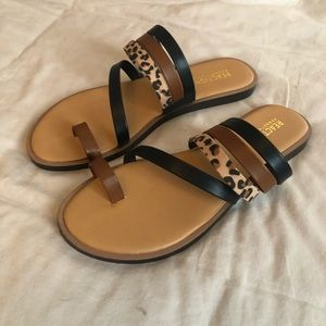 NWT Kenneth Cole Reaction Leopard Sandals 7.5